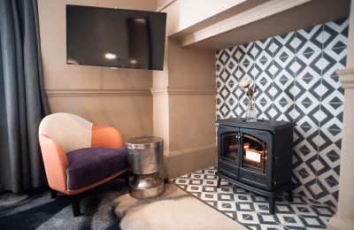 The Counting House Hotel Bank London - fireplace