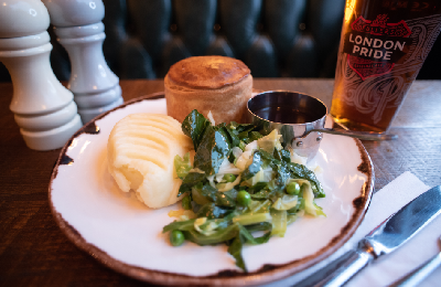 homemade pie and mash at the counting house near bank